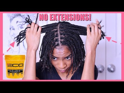 How To| Box Braids Protective Style on Natural Hair No Extensions