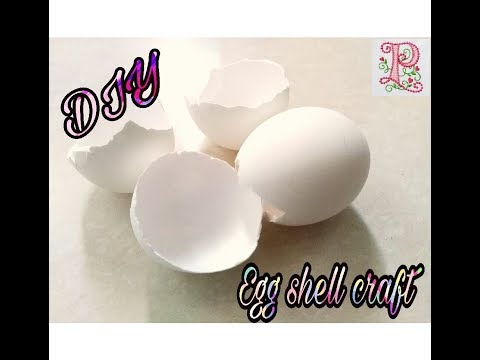 Egg shell craft || Jewellery making using egg shells at home