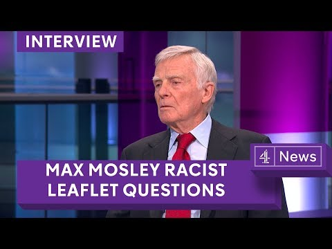 Max Mosley questioned over racist leaflet