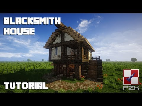 Minecraft - How to build medieval village (Polish, slavic style) #1 - blacksmith house