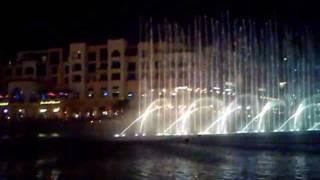 نافورة برج دبي ترقص على أنغام أنت عمري - أم كلثوم