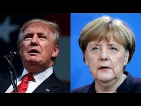 Trump trades jabs with Germany's Merkel over refugee policy