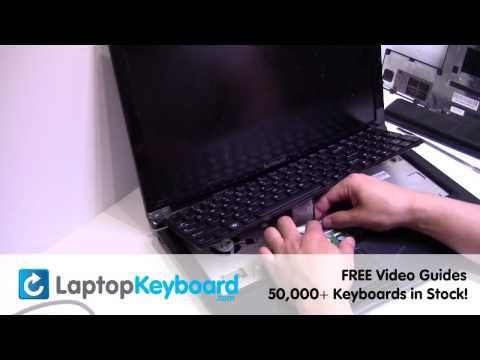 Lenovo B575 Z575 Keyboard Installation Replacement Guide - Laptop Remove Replace Install