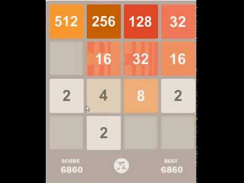 win 2048 game Tips & Tricks / Demonstration 2048 oyunu nasıl biter