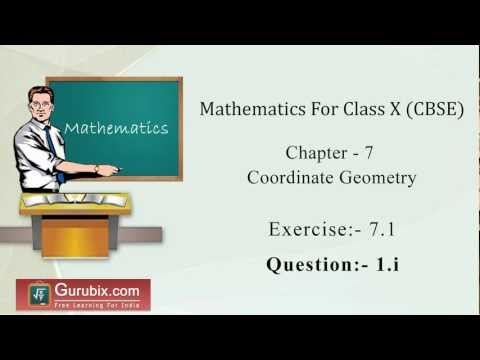 Ex 7.1 : Q.1(i) : Find the distance between the following pairs of... Ch 7 | Math for Class X CBSE