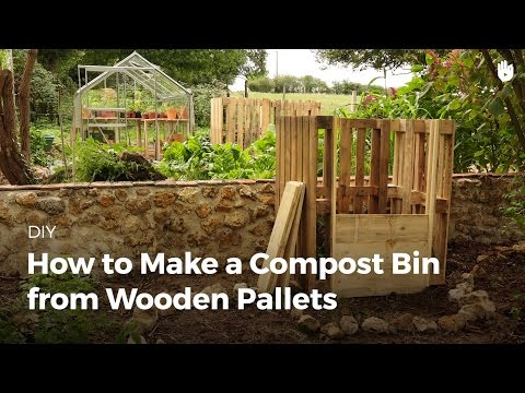 How to make a compost bin from wooden pallets