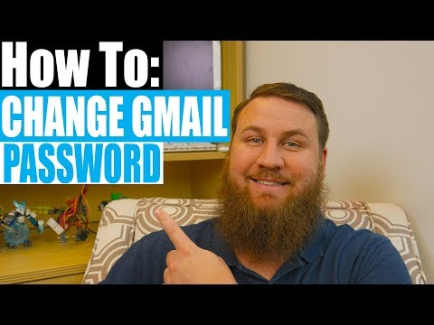 How to change your Gmail email password.