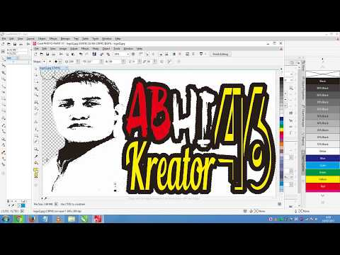 Remove the white background using coreldraw x7