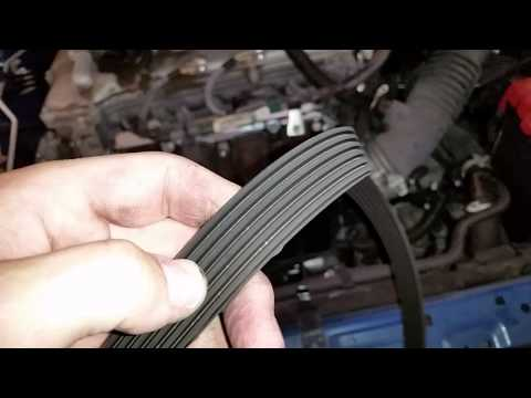 2010 Toyota Corolla S - Checking OEM Serpentine Accessory Belt @ 50,000 Miles & Changing