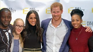 Meghan and Harry's first joint appearance after wedding announcement