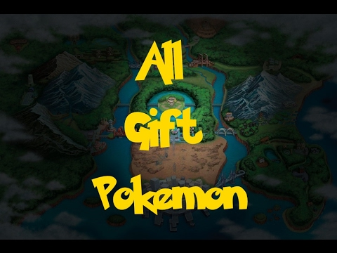 All Gift Pokemon (Pokemon Black 2/White 2)