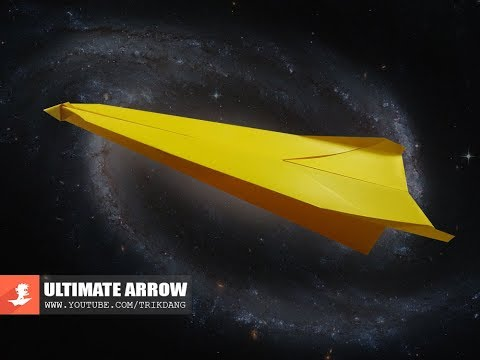 EASY LONG DISTANCE paper airplane - How to make a Paper Airplane that FLIES FAR | Ultimate Arrow