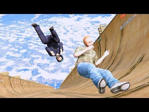 GTA 5 Crazy Jumper/Falls compilation #6 (GTA 5 Fails Funny Moments/Ragdolls)