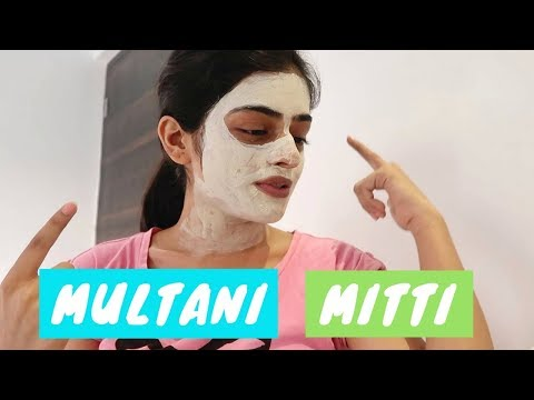 Trying out Patanjali's Multani Mitti (fuller's earth) for the first time   #DhwanisDiary