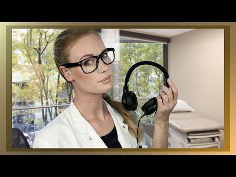 ASMR HEARING TEST EAR CLEANING EAR TO EAR BREATHY WHISPER