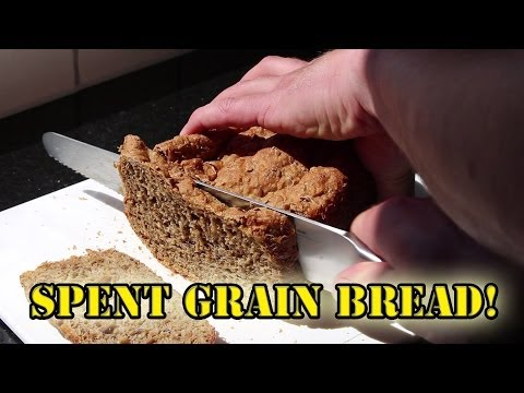 Baking bread with spent grains