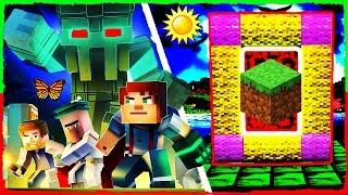 Minecraft - How to Make a Portal to MINECRAFT STORY MODE