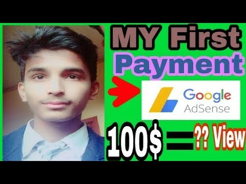 My first payment on YouTube || how much pay 100$ = ?? Views || Hindi || 2018