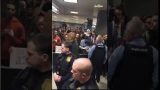 Fiery Speech by Cory Booker at Dulles Airport (1/28/17)
