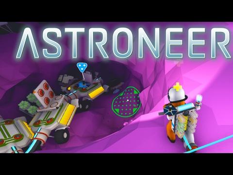 Astroneer  Ep. 5 - Build a Fuel Condensor   Trade Platform   New Habitat   Ground Glitch