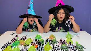Halloween Hands Slime Switch Up Challenge