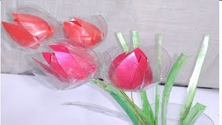 Plastic Bottle  Flowers Recycle Bottles Water Bottle Crafts Best out of waste plstic bottles