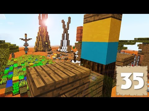 TOTEM POLES & VILLAGE ADDITIONS! - Survival Let's Play Ep. 35 - Minecraft