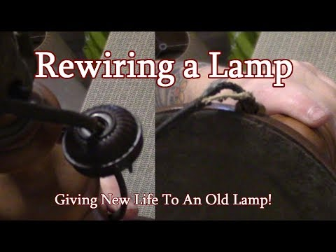 Re Wiring An OLD Lamp!