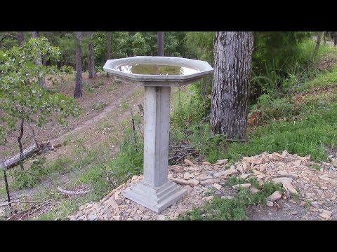 How To Make A Concrete Birdbath Part 1