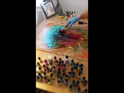 Large Format Alcohol Ink Paintings