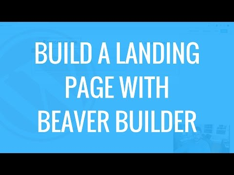 Building a landing page on WordPress with Beaver Builder | Product launch