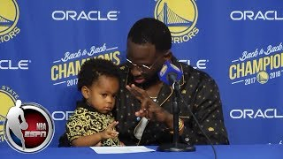 Draymond Green and his son make a splash after Warriors' season-opening win   NBA Sound
