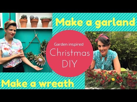 How to make an Australian Christmas Wreath & Christmas Garland // The Gardenettes