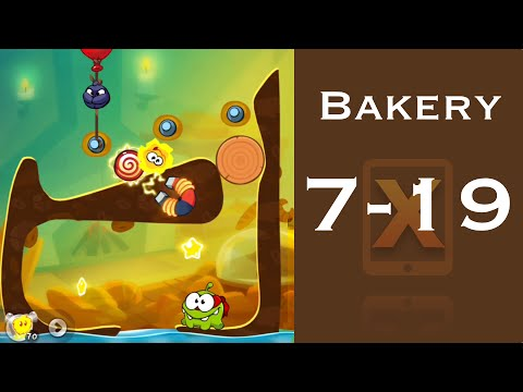 Cut the Rope 2 Walkthrough - Bakery 7-19 - 3 Stars + Medal