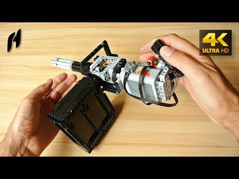 How to Build the Lego Technic Rotary Machine Gun (MOC - 4K)