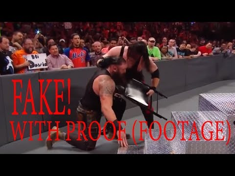 Kane Attack Braun Strowman not fake! WWE RAW 20th November 2017 (footage)