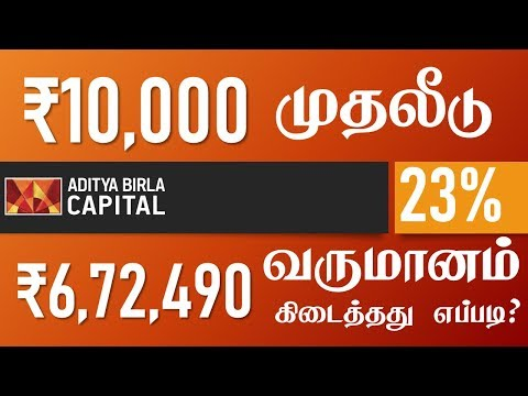 Invested 10,000 current value 6,72,490 Aditya Birla Sun Life Equity Fund Mutual fund in tamil