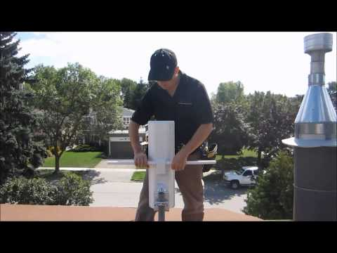 HDTV Antenna Roof Installation with proper grounding
