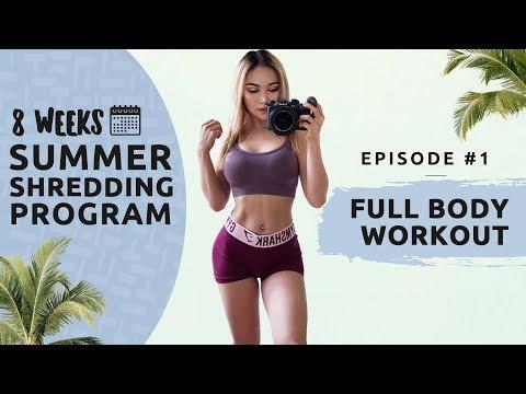 FULL BODY WORKOUT - Summer Shredding EP#1 - 8 WEEKS FREE WORKOUT PROGRAM
