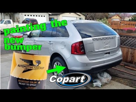 PAINTING A BUMPER AT HOME USING AUTOMOTIVE TOUCH UP PAINT