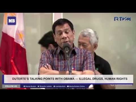 Duterte's talking points with Obama — illegal drugs, human rights