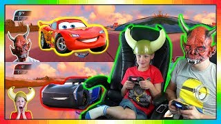 Cars 3 Driven To Win gameplay ★★ McQueen Vs Jackson Storm ★★ David Vs Papa