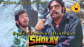 """Kitne Aadmi The"" Super Famous Dialogue From Sholay Hindi Movie Scene"