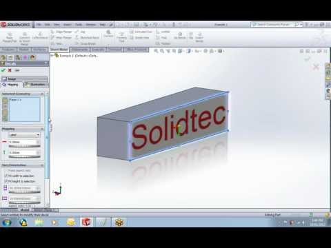 Using decals in SolidWorks
