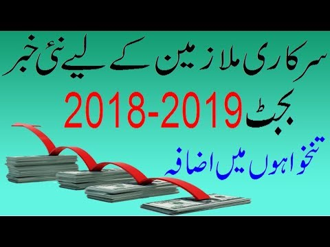 Salary Increase Of Teachers & Employees Only Budget 2018 19