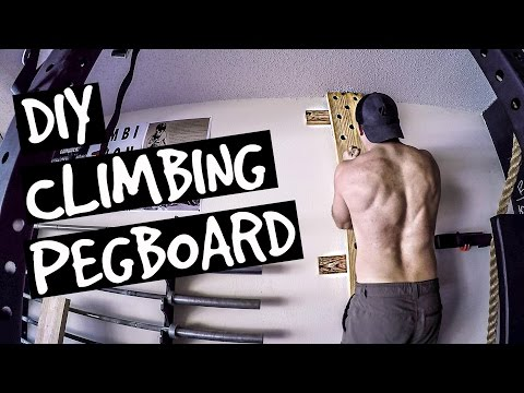 How to Build a Climbing Pegboard - DIY