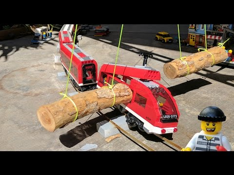 Lego crooks making Ewok log traps