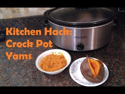 Crock Pot Sweet Potatoes - Large Family Cooking