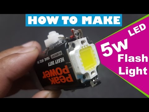 How To Make 5w powerful Led Smd flash light at home 5 watt