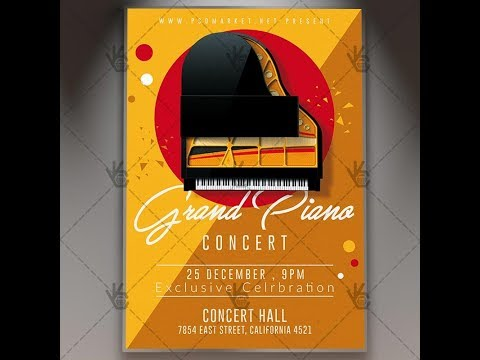 Grand Piano Concert - Music Flyer PSD Template